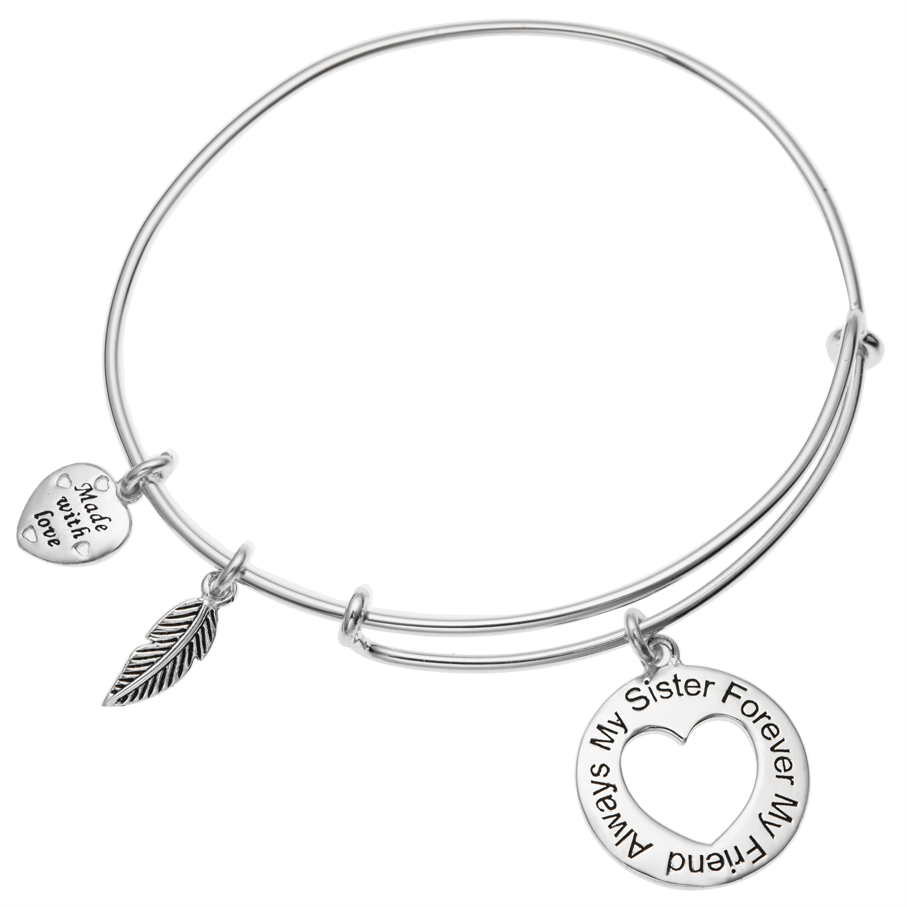 Queenberry Qina C Sterling Silver Always My Sister Forever My