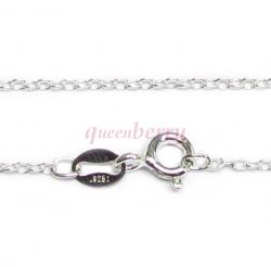 Italian Sterling Silver OVAL CABLE ROLO chain with spring clasp 16""