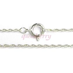 Italian Sterling Silver 8R Rope Chain Necklace with Spring ring clasp 18""