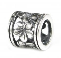 Sterling Silver Frangipanni Flower European Style Bead Charm for Pandora