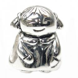 Sterling Silver CUTE BABY Little GIRL KID Bead Charm for Pandora Troll  Chamilia Biagi European Jewelry