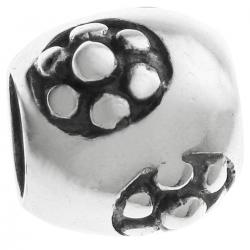 Sterling Silver Daisy flower focal Bead 10mm for PANDORA