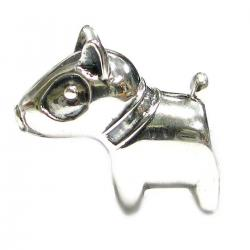 Sterling silver Cute Pit bull Dog Bead for European Story Charm Bracelets