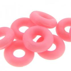 10x Pink Round Rubber Stopper Spacer Bead for Silver Pandora Troll Chamilia Biagi European Charm Bracelets / Clips