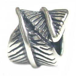 Sterling Silver Fairy Angel Feather Bead for Pandora Troll Chamilia Biagi European Charm Bracelets