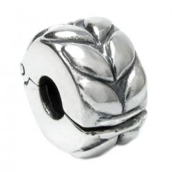 Sterling Silver Round Leafs Clip Stopper Lock Clasp Bead for Pandora Troll Chamilia Biagi European Charm Bracelets