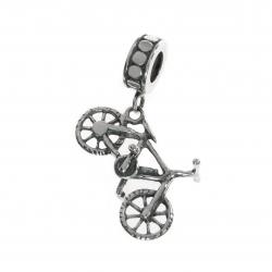 Queenberry .925 Sterling Silver Bicycles Bike Dangle Bead for Chamilia Biagi Pandora European Charm...