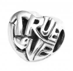 Queenberry .925 Sterling Silver Valentine True Love Heart Bead for Chamilia Biagi Pandora European...