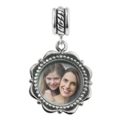 925 Sterling Silver Custom Photo Personalized Dangle Charm Bead for European Charm Bracelets