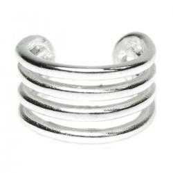 .925 Sterling Silver Round Split Cuff Earring / Ear Cuff Wrap