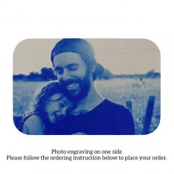 Stainless Steel Personalized Photo Text Engraved Best Dad Wallet Card Father's Day Birthday Gift Blue