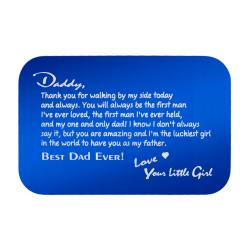 Stainless Steel Personalized Text Engraved Best Dad Wallet Card Father's Day Birthday Gift Blue