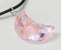 New Moon Pendant: Pink AB-Coated Swarovski Crystal