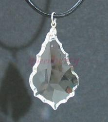 Swarovski Crystal: Large Clear Leaf Pendant
