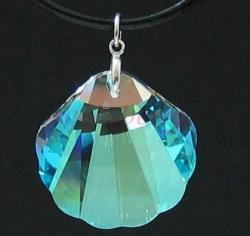 Large Swarovski Crystal Sea Shell Pendant