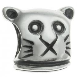 Sterling Silver Kitty Cat Bead Charm for Pandora Chamila Biagi Troll