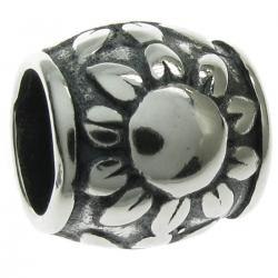 Sterling Silver the Sun Sunflower Bead Charm for Pandora Troll Biagi Chamilia