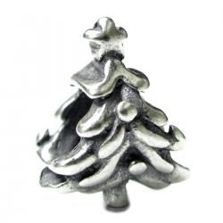 Sterling Silver Christmas Tree Star Bead for European Charm Bracelets