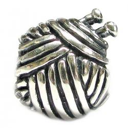 Sterling silver Knitting Wool Ball Bead for European Story Charm Bracelets
