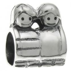 Sterling Silver Cute Boy Girl Mom's Son Daughter Kid Bead for Pandora Troll European Charm Bracelets