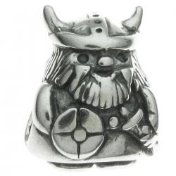 Sterling Silver Viking Warrior Pirate Bead for Pandora Troll Chamilia Biagi European Charm Bracelets