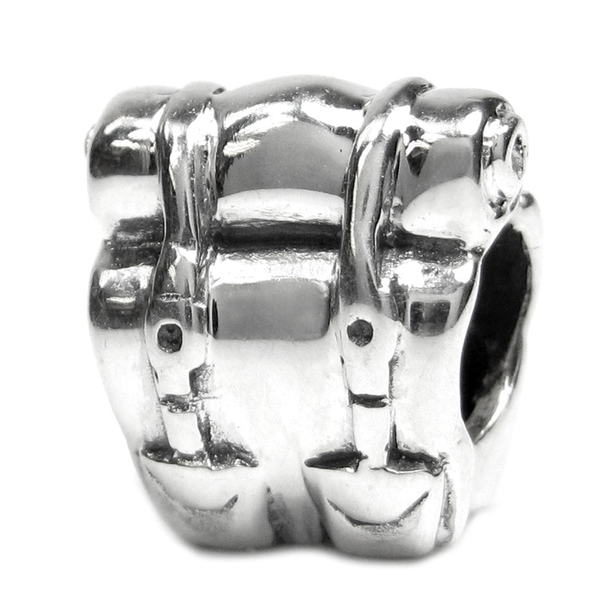 Sterling Silver Camping Picnic Backpack Bead For Pandora Troll Chamilia Biagi European Charm Bracelets