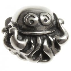.925 Sterling Silver Cute Ocean Octopus Bead for European Charm Bracelets