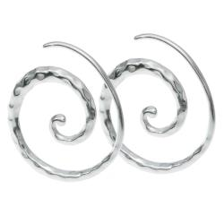 2x 925 Sterling Silver Swirl Coil Ear Wire Earwire Hook Earring
