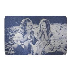 Personalized Photo / Text Custom Engraved Aluminum Wallet Mini Love Insert Card - Navy