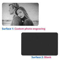 1 Side Personalized Photo Custom Engraved Metal Wallet Mini Love Insert Gift Note Card