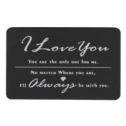 Love You Always Personalized Photo Engraved Metal Wallet Mini Insert Card