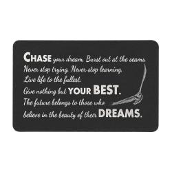 Chase Your Best Dream Engraved Metal Wallet Mini Insert Card
