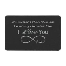 Aluminum Black Infinity Love Personalized Text Engrave Metal Wallet Mini Love Insert Gift Note Card