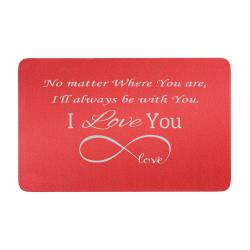 Aluminum Red Infinity Love Personalized Text Engrave Metal Wallet Mini Love Insert Gift Note Card