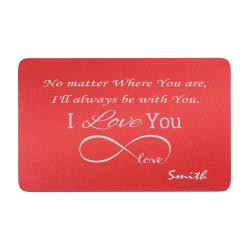 Anodized Aluminum Infinity Love Personalized Text Custom Engrave Metal Wallet Mini Love Insert Gift Note Card