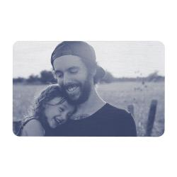 Aluminum Engraved Best Dad Ever Personalized Photo Wallet Card From Daughter Navy