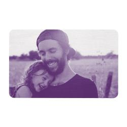 Aluminum Engraved Best Dad Ever Personalized Photo Wallet Card From Daughter Purple