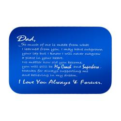 Stainless Steel Engraved Personalized Text Superhero Coach Dad Wallet Card Father's Day Birthday...