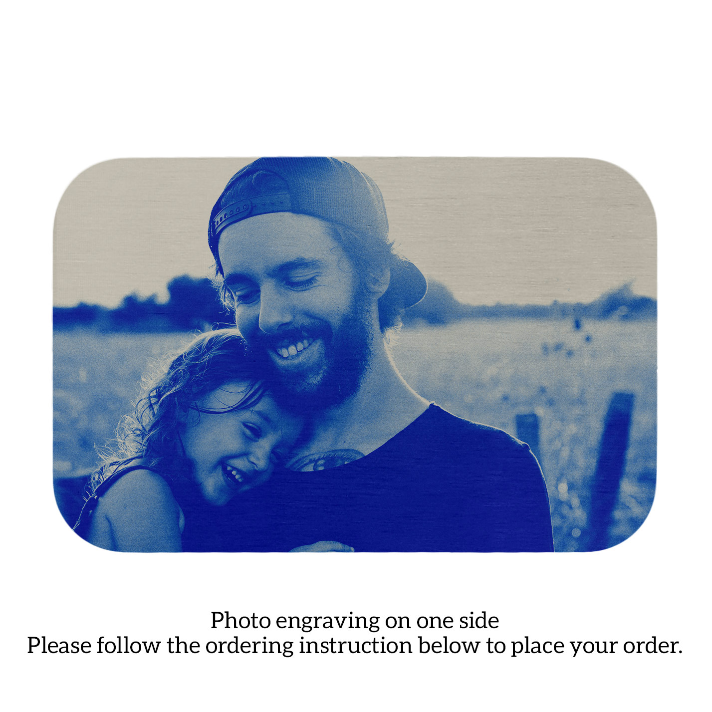 Stainless Steel Personalized Photo Text Engraved Best Dad Wallet Card Father\'s Day Birthday Gift Blue