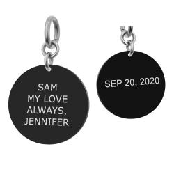 2-sided Personalized Message Engraving Custom Pendant Dangle Charm Bead for European Charm Bracelets