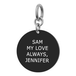 1-sided Personalized Message Engraving Custom Pendant Dangle Charm Bead for European Charm Bracelets